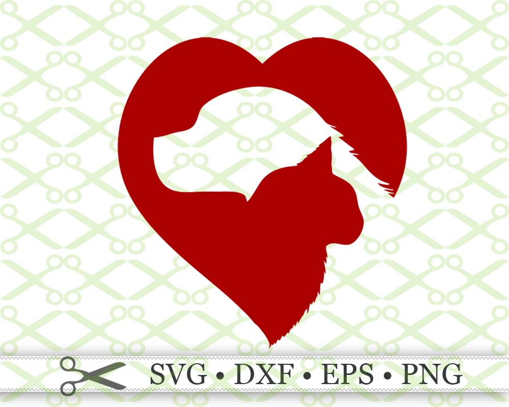 Cat Dog Silhouette Heart Cricut Silhouette Files Svg Dxf Eps Png Monogramsvg Com By Svg Designs