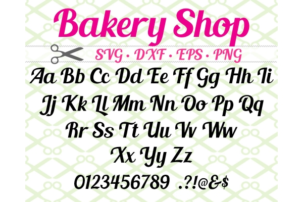 BAKERY SHOP SVG FONT
