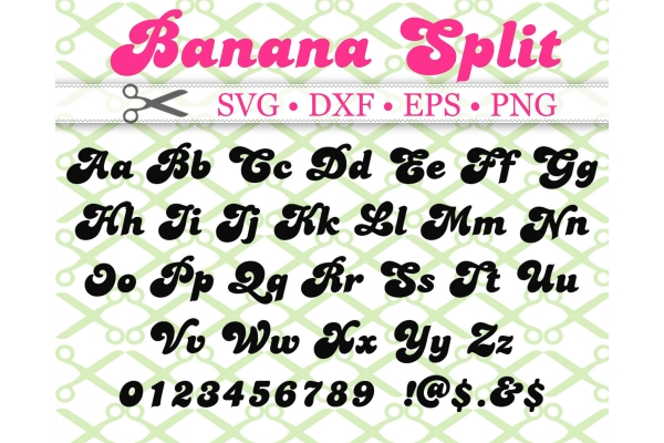BANANA SPLIT SVG FONT FILES