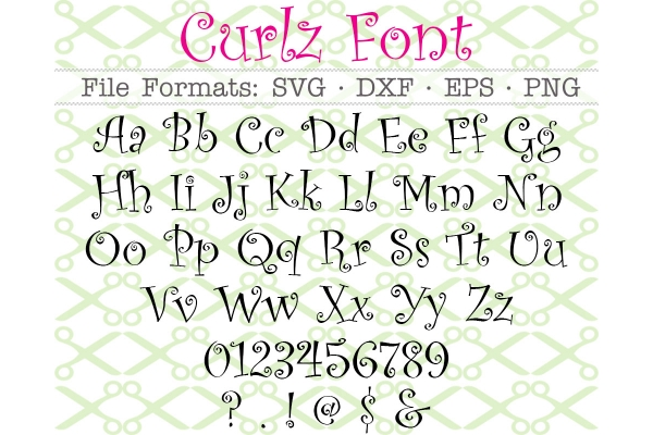 CURLZ FONT SVG FILES
