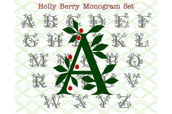 HOLLY MONOGRAM SVG FILES - Monogram SVG