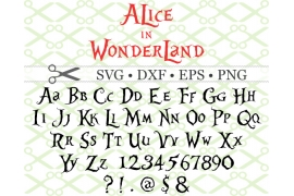 ALICE IN WONDERLAND SVG FONT
