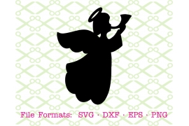 ANGEL SILHOUETTE SVG FILE