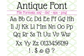 ANTIQUE FONT SVG