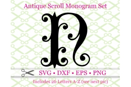 ANTIQUE SCROLL MONOGRAM SVG FONT