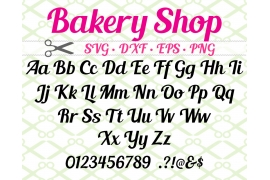 BAKERY SHOP SVG FONT