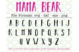 MAMA BEAR SVG FONT