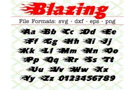 BLAZING FONT SVG