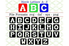 BABY BLOCKS SVG FONT LETTERS