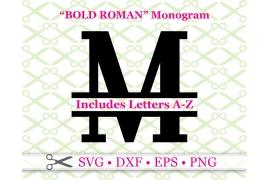BOLD ROMAN SPLIT LETTER MONOGRAM