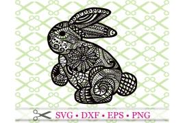 BUNNY SVG DOODLE ART, Easter Bunny SVG