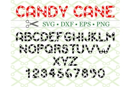 CANDY CANE SVG FONT