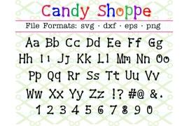 CANDY SHOPPE SVG FONT