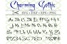 CHARMING Font, SVG FONT, Gothic Font