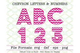 CHEVRON LETTERS & NUMBERS SVG SET