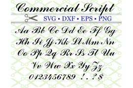 COMMERCIAL SCRIPT SVG FONT
