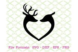 DEER BUCK & DOE SVG FILE Deer Couple SVG