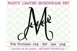 FANCY LEAVES MONOGRAM SVG FONT
