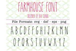 FARMHOUSE SVG FONT, RAE DUNN INSPIRED FONT