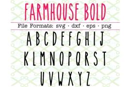 FARMHOUSE BOLD SVG FONT