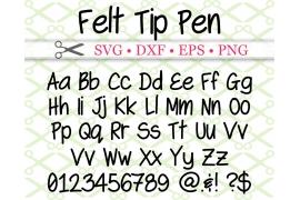 FELT TIP PEN FONT SVG FILES