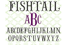 FISHTAIL MONOGRAM SVG FONT