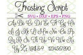 FROSTING SCRIPT FONT SVG FILES