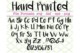 HAND PRINTED SVG FONT