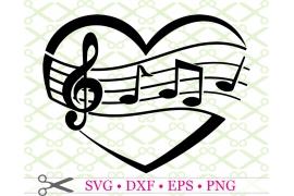 MUSICAL HEART SVG