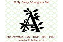 HOLLY MONOGRAM SVG FILES - Monogram SVG