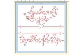 HUSBAND & WIFE SVG, Wedding SVG, Love SVG