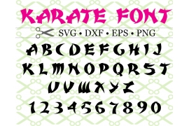 KARATE FONT SVG FILE