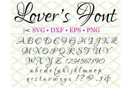 LOVERS SVG FONT