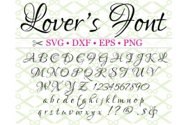 LOVERS SVG FONT