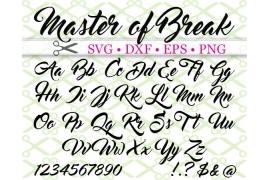 MASTER OF BREAK SVG FONT