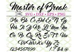 MASTER OF BREAK SVG FONT