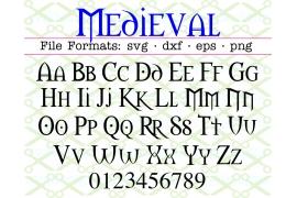 MEDIEVAL SVG FONT, Gothic Font