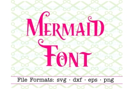 MERMAID FONT SVG FILES