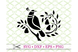 PARTRIDGE IN A PEAR TREE SVG FILE