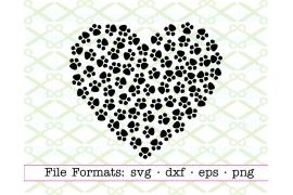 PAW PRINT HEART SVG FILE