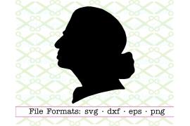 RBG Silhouette SVG FILE, Ruth Bader Ginsburg SVG