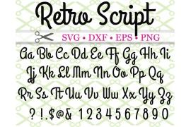 RETRO SCRIPT SVG FONT
