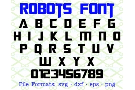 ROBOTS SVG FONT