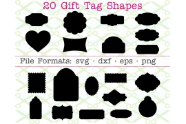 20 GIFT TAG SVG SHAPES