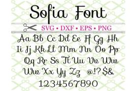 SOFIA SCRIPT SVG FONT