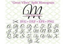 GREAT VIBES SPLIT LETTER MONOGRAM