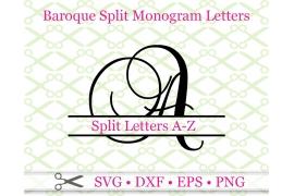 BAROQUE SPLIT LETTER MONOGRAM
