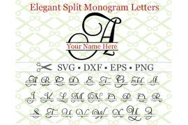 ELEGANT SPLIT MONOGRAM SET