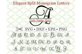 ELEGANT SPLIT MONOGRAM SET