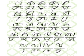 LOVERS SPLIT LETTER MONOGRAM SET